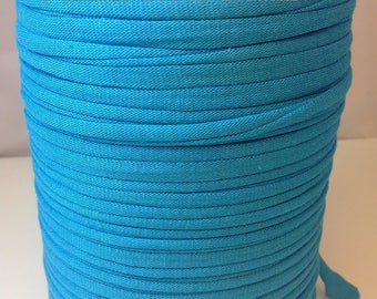 Large spool of Trapilho cotton turquoise blue jersey