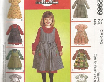 McCall's Childrens and girls dress and pinafore