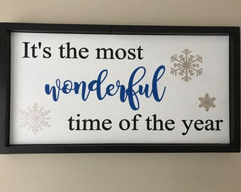 It's the most wonderful time of the year |Christmas Decor | Christmas |Home Decor|