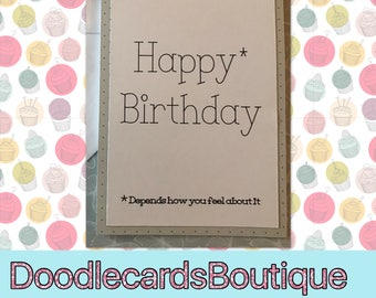 Funny birthday card - card for her, card for him, birthday card