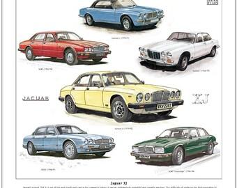 Jaguar XJ - Fine Art Print (Series 1 2 3 X300 XJ40 Sovereign X300 Saloon Cars)