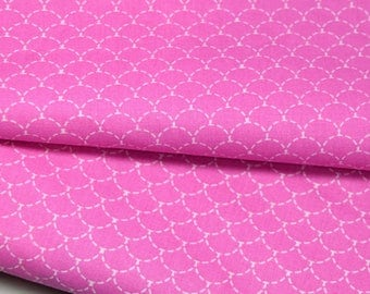 printed 100% cotton fabric - pink scales