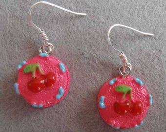 """""""Cherry pie"""" earrings"""