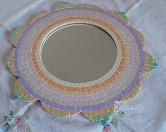 Pastel mosaic mirror shaped Sun