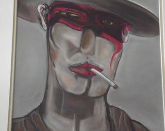 the beautiful diego has cigarette style zorro