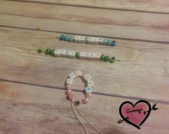 Pride Pronoun Bracelets