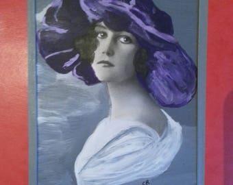 Enigmatic woman. Female portrait