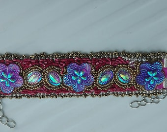 Embroidery bracelet