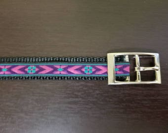 "3/4"" Purple Jacquard Dog Collar"