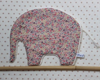 Pretty little flat plush elephant charms