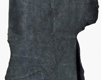 Black Split suede leather cow Hide