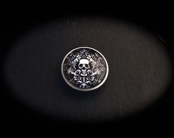 Baroque skull cameo pressure fancy 18mm for jewelry-