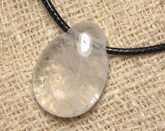 Necklace - Crystal Quartz drop 25mm