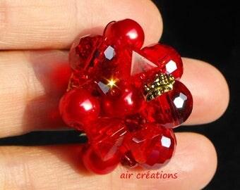 ring adjustable setting BAG.0765 Crystal beads
