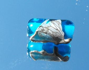 PERL.1778 Murano glass cylinder bead