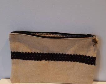 Small linen clutch