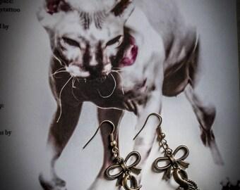 """Bronze wing Angel earrings """"Johanna"""""""