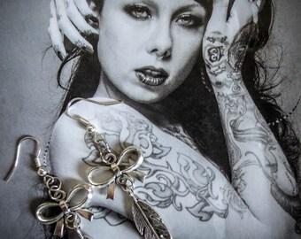 """Silver """"Feathers"""" earrings"""