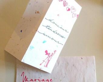 """Gentle love love"" wedding card"
