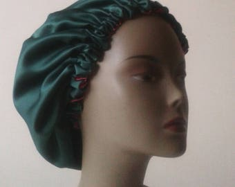 Reversible satin night cap
