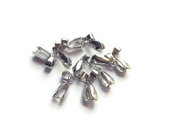 Silver 9x21mm bails x 10
