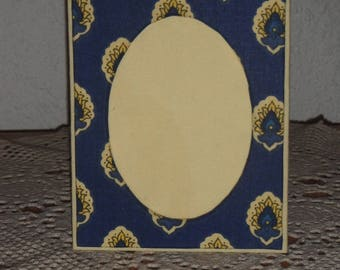 Cotton fabric lining and cardboard picture frame
