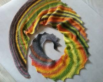 Shawl handmade dragon's tail