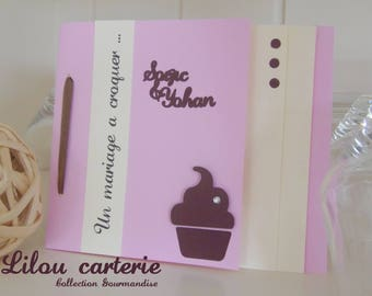 Treats theme wedding invitation