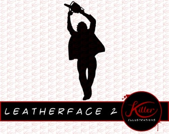 chainsaw silhouette. leatherface silhouette vector | chainsaw massacre clip art cut file| instant digital download