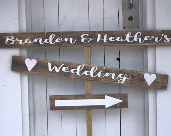 Wedding This Way Sign | Wedding Sign | Road Sign