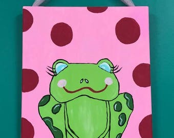 PInk Frog Painting