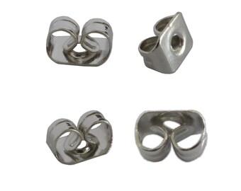Bag of 110 tips clasps Butterfly silver Stud Earrings