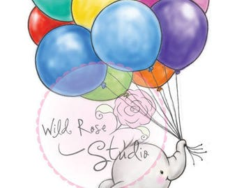 Wild Rose Studio Bunch of Balloons new clear stamp