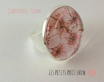 Ring # cherry blossom # adjustable finger