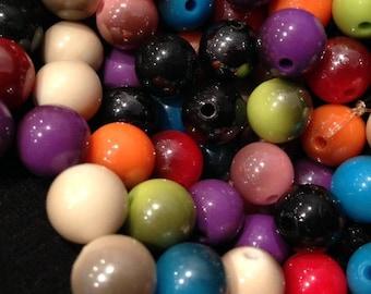Lot 100 Acrylic round beads
