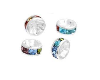 Set of 5 multicolored rhinestone separators