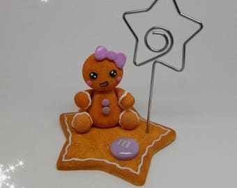 Mark up gingerbread polymer clay (purple)