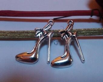 Stiletto heel charm metal