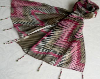 Scarf & pearls REF. 014 *-zig - zag pattern