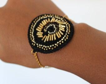 Bohemian chic ethnic bracelet crochet