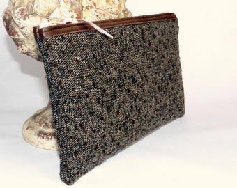 Multi-purpose Brown Tweed bag