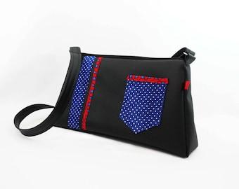 Shoulder bag / Hobo black and blue