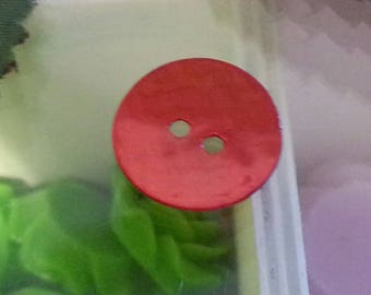 Shell buttons 2 holes round and flat, 15mm, hole: 2mm