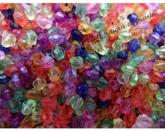 330 BEADS 4 MM MULTICOLOR RESIN - CREATING JEWELRY