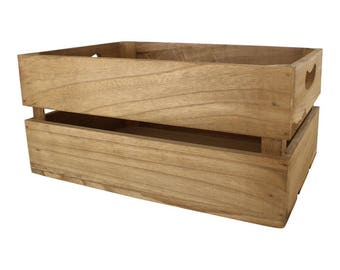 Wooden Storage Crate Display Home Decoration Wedding Gift Garden Craft Vegetable Box Fruit Box Toy Storage