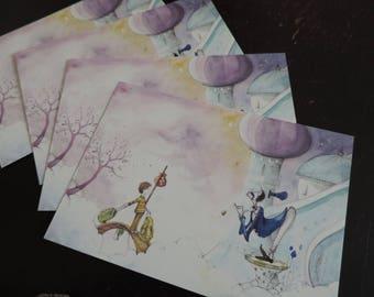 "Postcards - ""The imaginary world of Martin_2"""