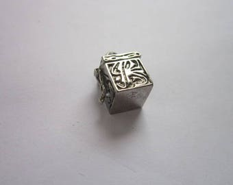 Reserved Vintage Sterling Silver Jewish Prayer Box Charm Bracelet Charm Wonderful