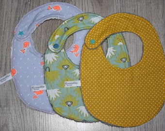List of birthstone Pacome set of 3 bibs size 0/12 months