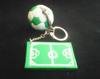 "Keychain ""green"" football themed personalized"