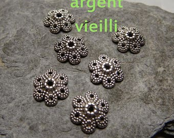 6 Silver of Cup: 10mm, thickness: 3mm, hole: 1.5 mm